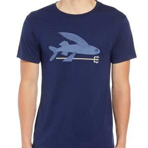 Patagonia Blue Flying Fish Spear T Shirt Small
